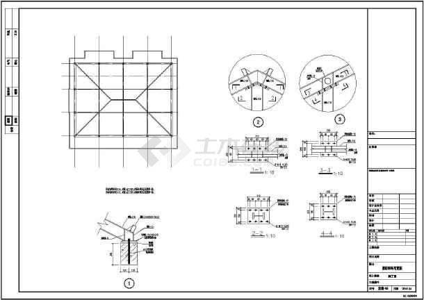 某宿舍砖混结构平改坡结构设计施工图-图1
