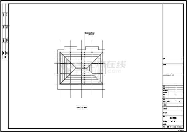 某宿舍砖混结构平改坡结构设计施工图-图3
