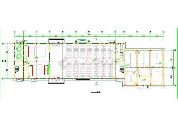 某食堂浴室建筑施工设计图纸(全套)