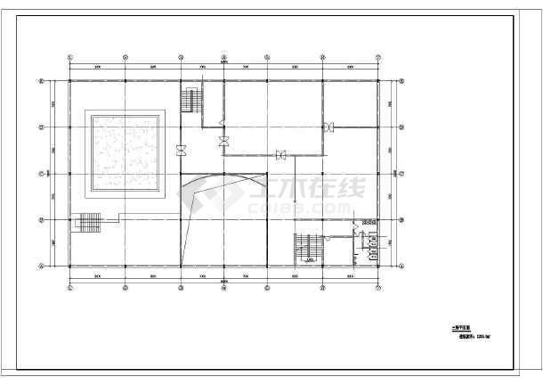 某地区3层城市展览馆建筑设计CAD图-图2