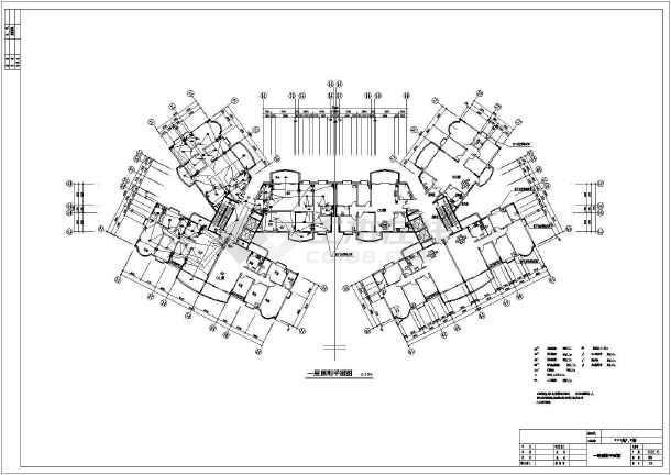 某省高级住宅楼电气v电气图片CAD施工图cad把方案线条变成图片
