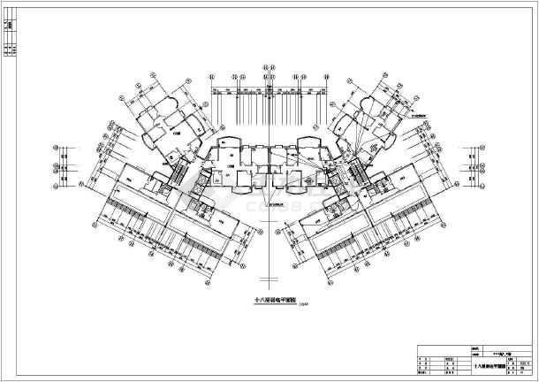某省高级住宅楼方案设计电气CAD施工图maccad图层管理器图片