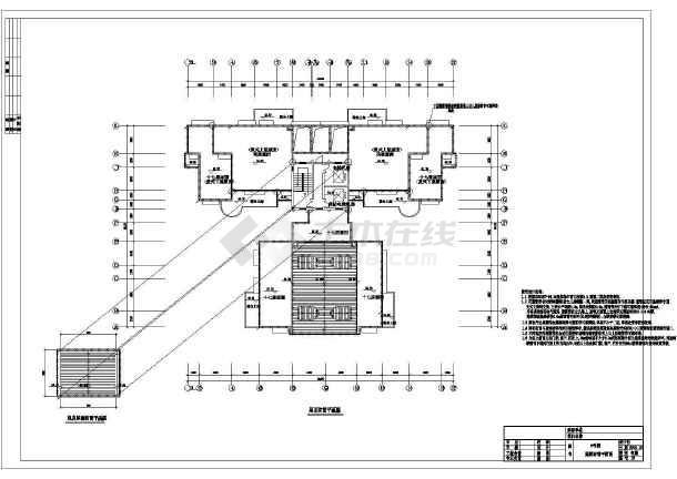 某地区住宅小区18层住宅楼电气设计CAD施工景观设计施工图视频教学图片