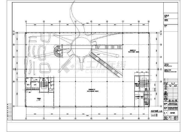 2层世博会比利时馆建筑方案设计CAD图-图3