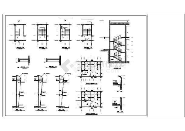 某超市建筑设计方案及施工全套cad平面图图片