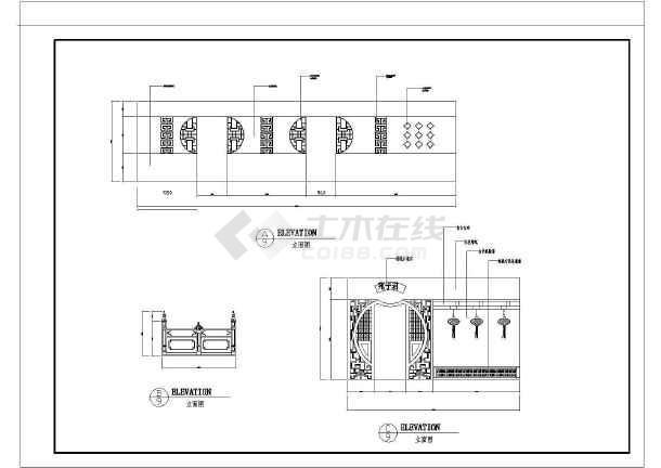 中餐厅建筑设计方案及施工全套CAD平面图