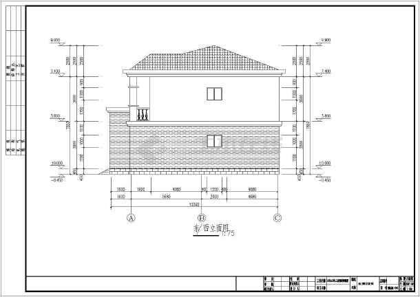 14米x12米二层钢结构别墅设计图(含设计说明)
