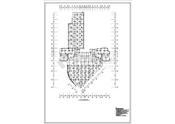 某地十三层框剪结构住宅建筑结构CAD设计施工图-图1