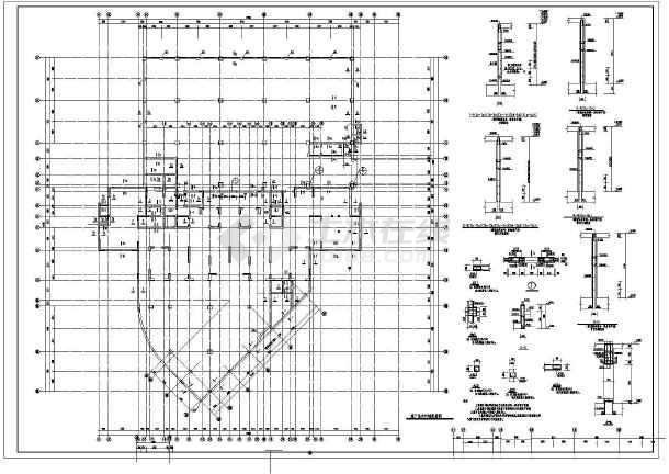 某地十三层框剪结构住宅建筑结构CAD设计施工图-图2