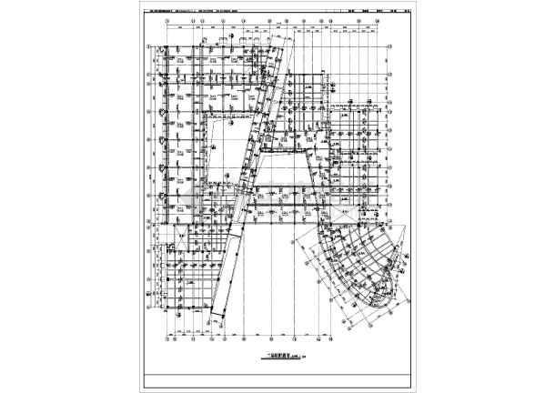 某市教学楼框剪结构建筑结构CAD设计施工图-图2