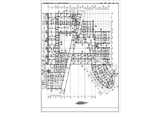 某市教学楼框剪结构建筑结构CAD设计施工图-图3