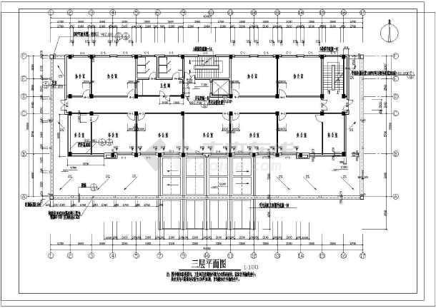 某政府办公楼建筑cad施工设计图纸
