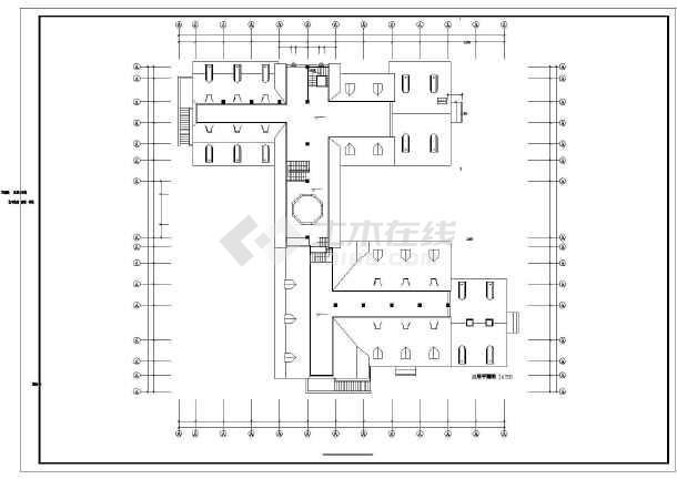 艺术钟楼建筑设计方案及施工全套CAD图-图2