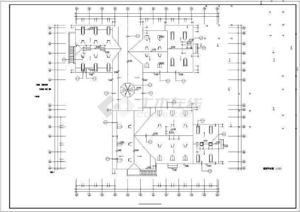 艺术钟楼建筑设计方案及施工全套CAD图-图3