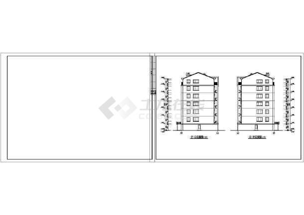 某地区单元式多层住宅建筑设计CAD施工图