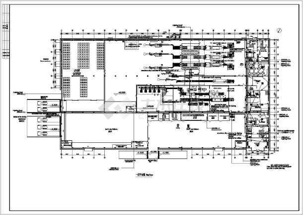 某地区工厂插座平面电气详细设计图纸