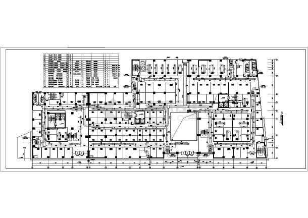 某广场综合大楼暖通工程CAD设计施工图纸-图1