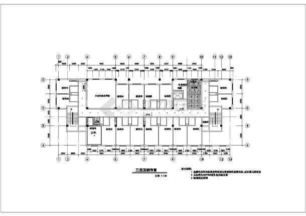 旅馆建筑设计平面图_某地小型宾馆的平面建筑cad设计图_cad图纸下载-土木在线