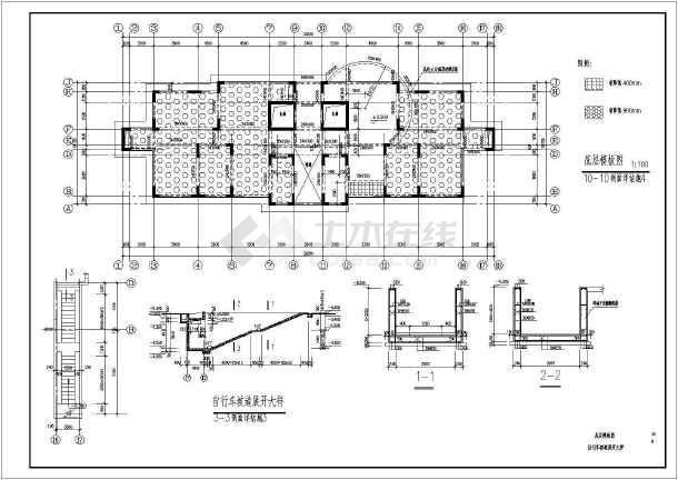 小高层住宅框剪结构cad施工设计工程图纸-图2
