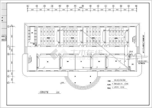 金牛区小学教学楼电气设计方案全套cad图纸