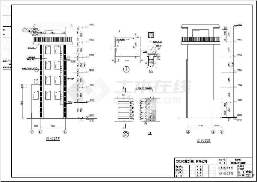 消防训练塔建筑及结构设计CAD施工图纸-图1