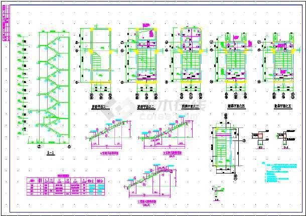 某地框剪结构住宅建筑结构CAD设计施工图纸-图1