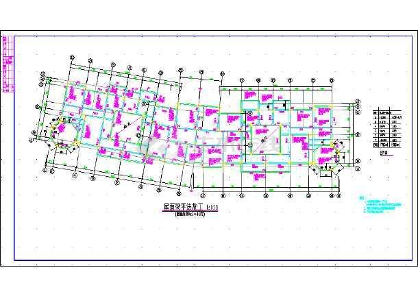 某地框剪结构住宅建筑结构CAD设计施工图纸-图2
