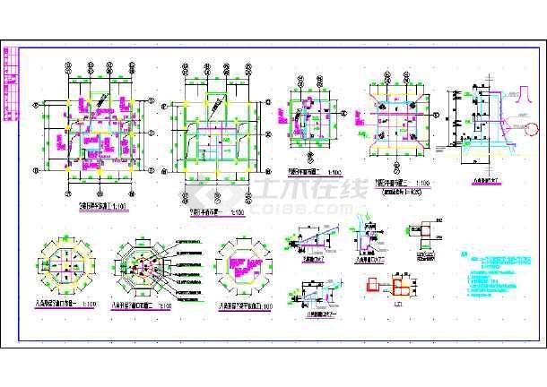 某地框剪结构住宅建筑结构CAD设计施工图纸-图3