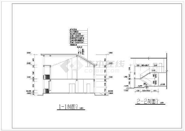 某地别墅建筑设计平立剖面图(共10张)