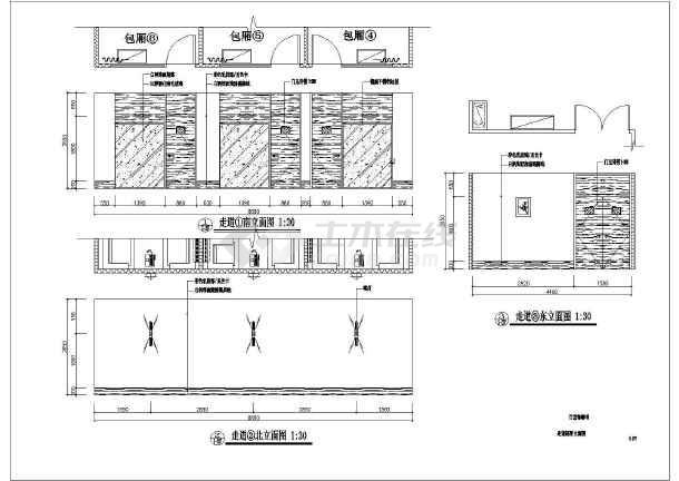 方案咖啡厅设计图形及施工全套CAD图纸cad导入标准icem图片