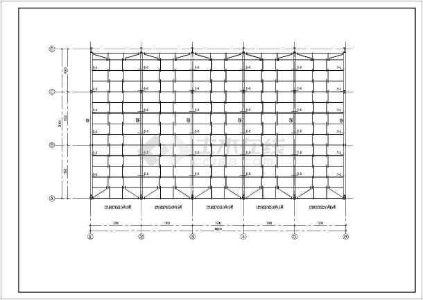 本田展厅建筑结构CAD设计图(全套)-图3