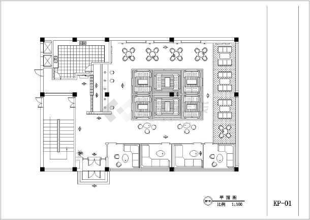 咖啡厅设计原因及更新系统CAD平面图方案施工后cad的退闪全套图片