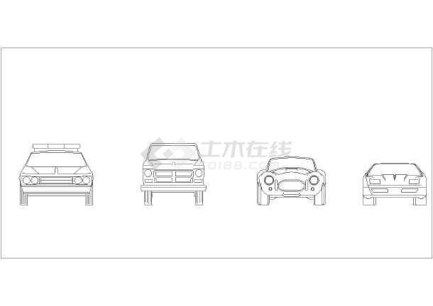 几十种汽车平立面的cad素材图纸