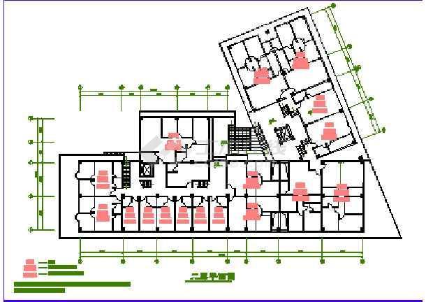 某时代广场建筑施工图纸(标注详细)