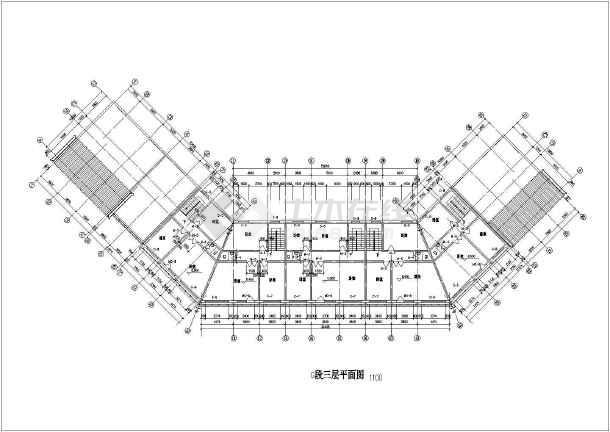 某地区大型仿古街建筑设计施工详细图-图2
