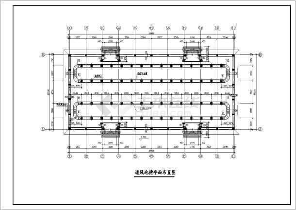 粮食仓库建筑结构施工全套cad方案设计图