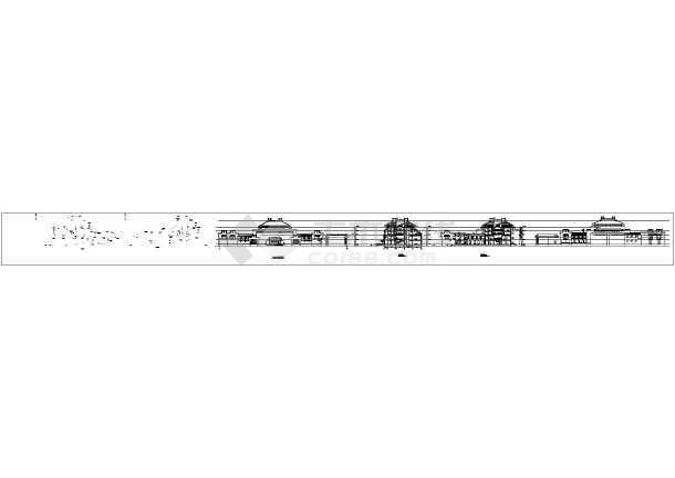 某四层仿古建筑立面CAD设计图纸-图2
