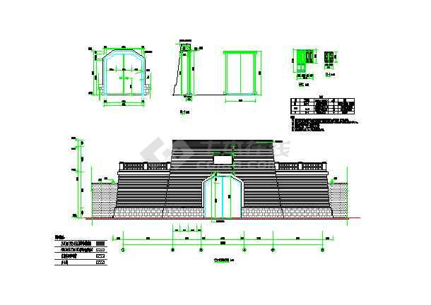 城门楼古建筑完整施工图纸-图1