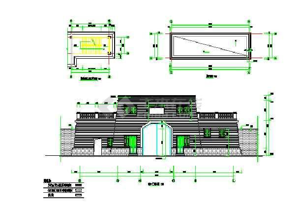 城门楼古建筑完整施工图纸-图2