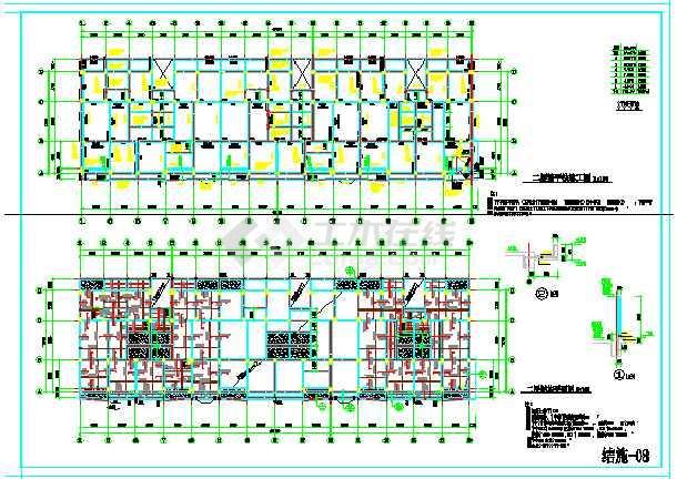 某地经典建筑框架结构民房结构图纸