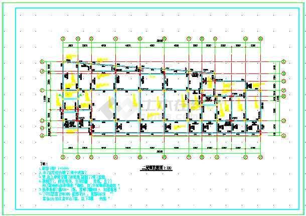 某4层框架结构幼儿园建筑结构图(共21张)