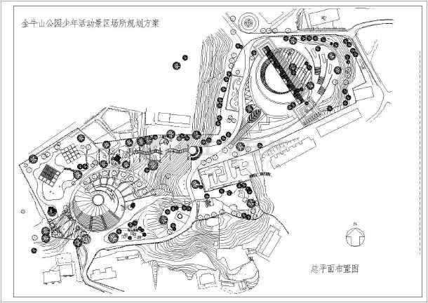 某地公园总平面建筑cad设计图纸图片