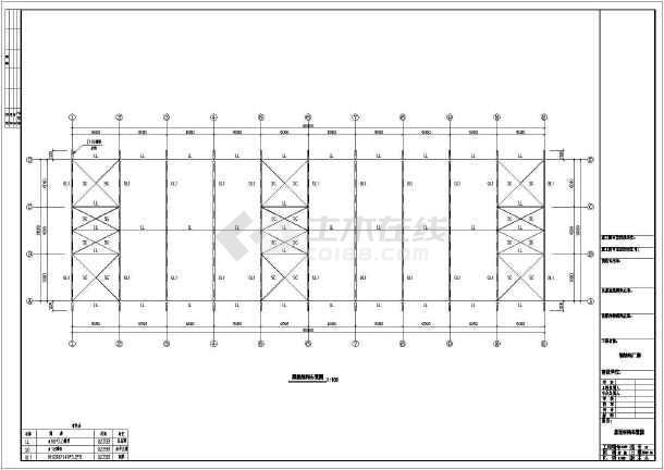 一套简单的厂房钢结构cad设计图