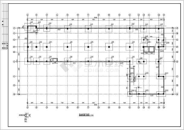 框剪结构商务楼建筑结构图(共31张)-图1