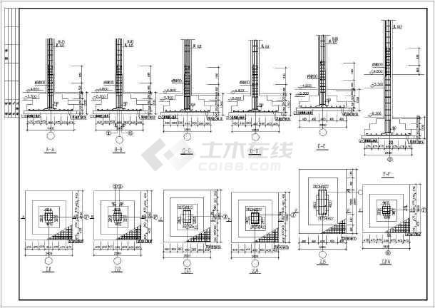 框剪结构商务楼建筑结构图(共31张)-图2