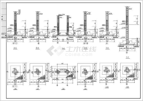 框剪结构商务楼建筑结构图(共31张)-图3
