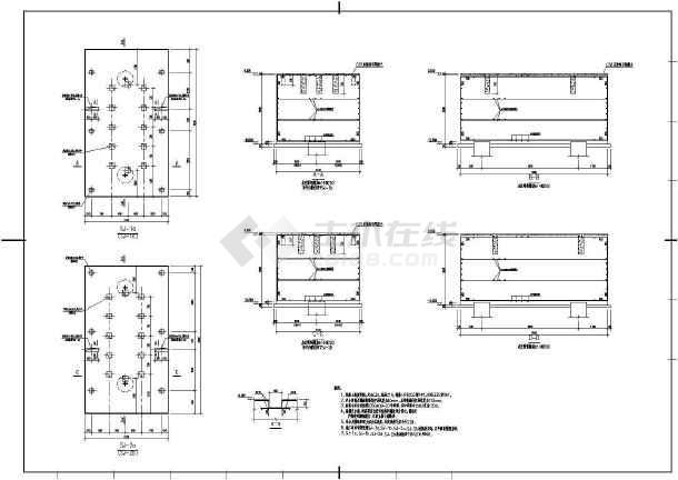 某经典框剪结构电控楼建筑结构施工图-图3