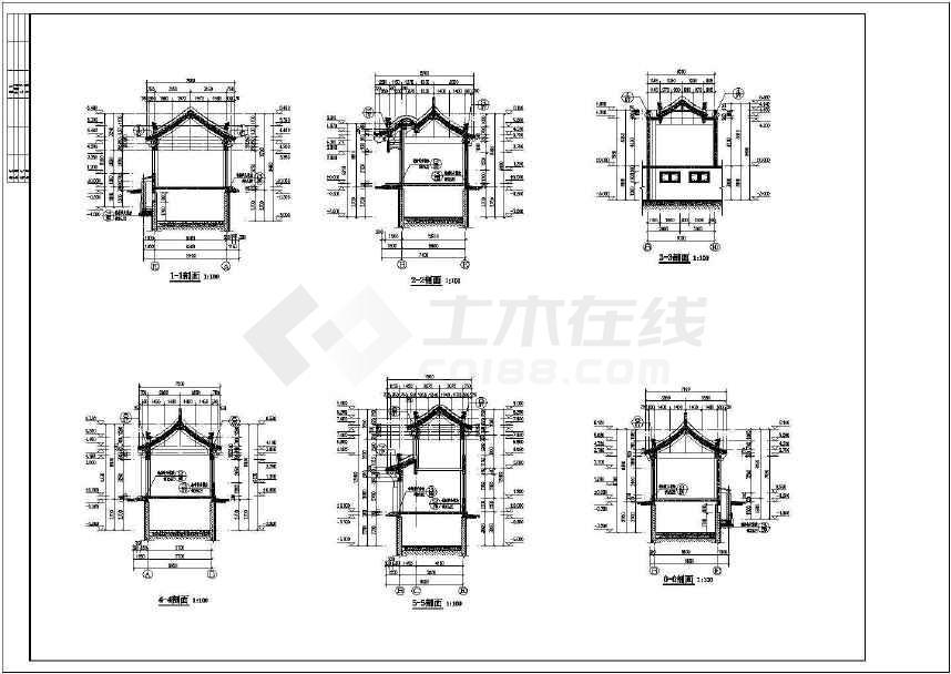 某地老城仿古建筑沿街风貌改造建筑设计图-图2