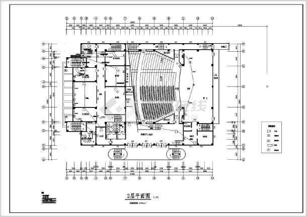 某地青少年宫的完整全套CAD施工图纸-图1
