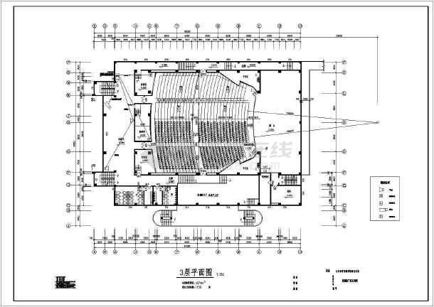 某地青少年宫的完整全套CAD施工图纸-图2